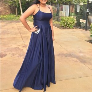 Blondie Nites Dresses - blue prom dress